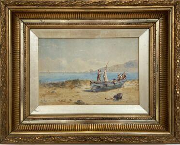 Norman Bradley THE PILOT watercolour